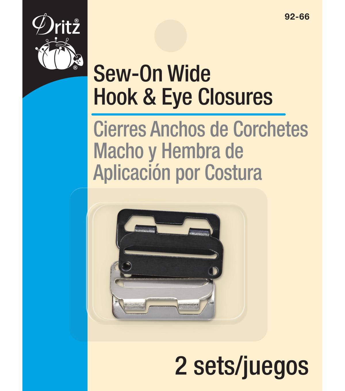 Dritz No-Sew Hook /& Eye 1//2 Inch 4//Pkg-Nickel