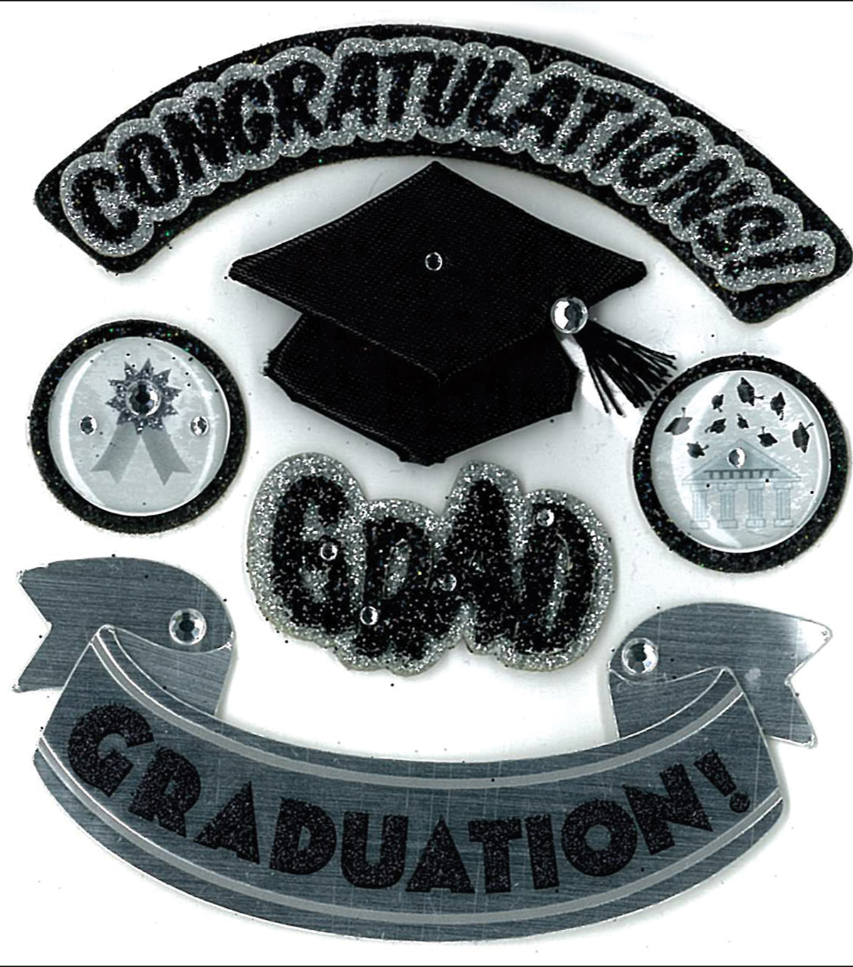 Jolee\u0027s Boutique Dimensional Stickers-Hats Of Grad