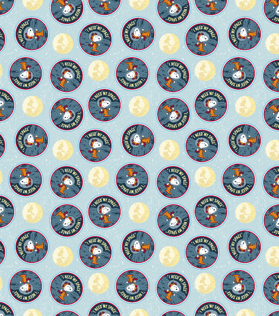 Peanuts Cotton Fabric-Snoopy Needs Space