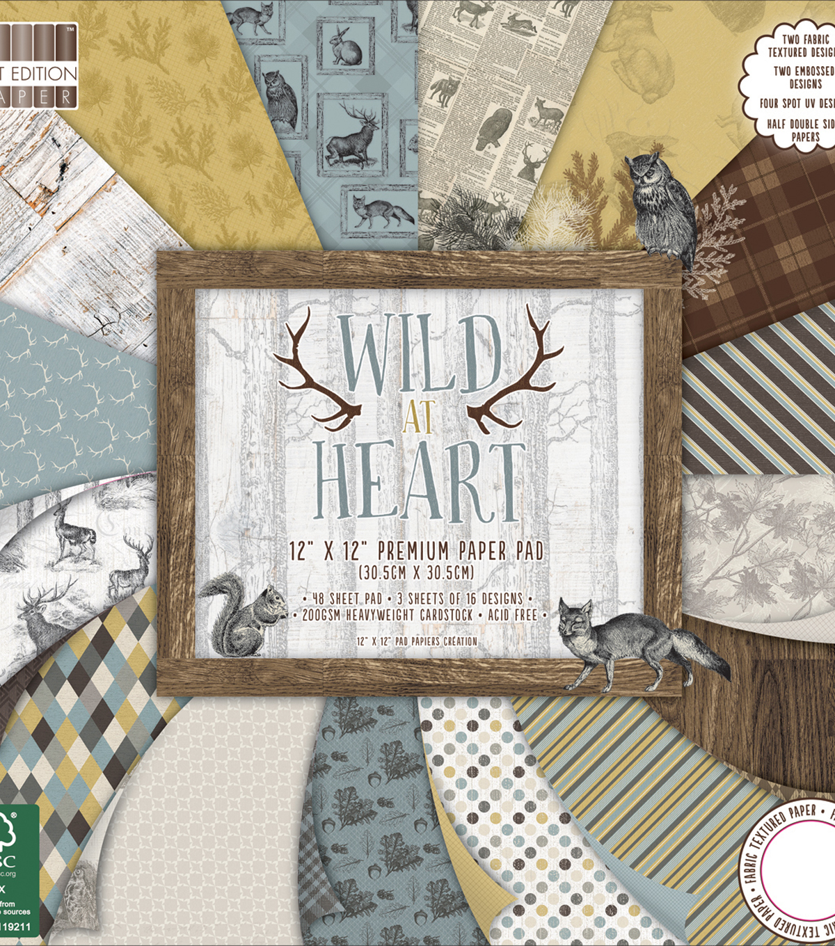 First Edition Premium Paper Pad 12\u0022X12\u0022-Wild At Heart
