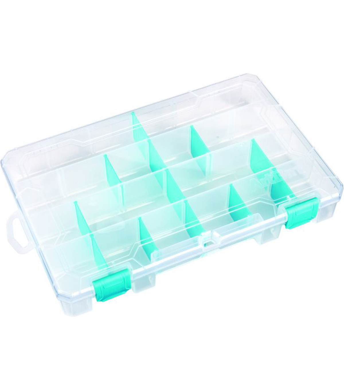 ArtBin Tarnish Inhibitor Solutions Box 6-12 Compartments-11\u0022X7\u0022X1.75\u0022 Translucent