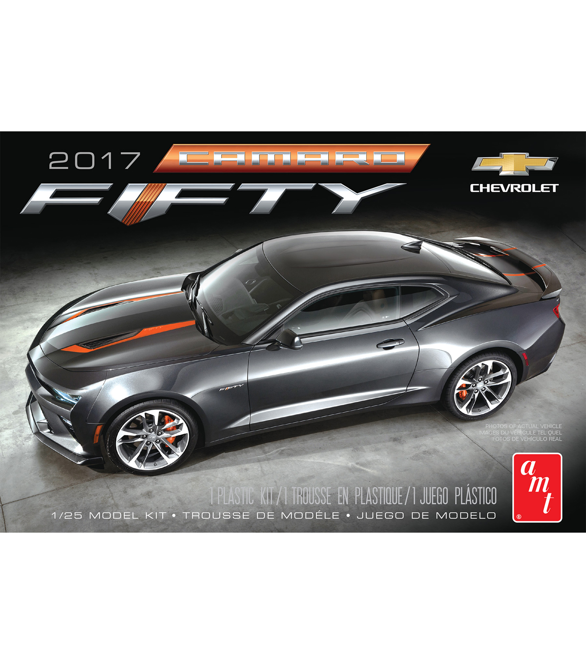 AMT 2017 Chevy Camaro 50th Anniversary 1:25 Scale Model Car Kit