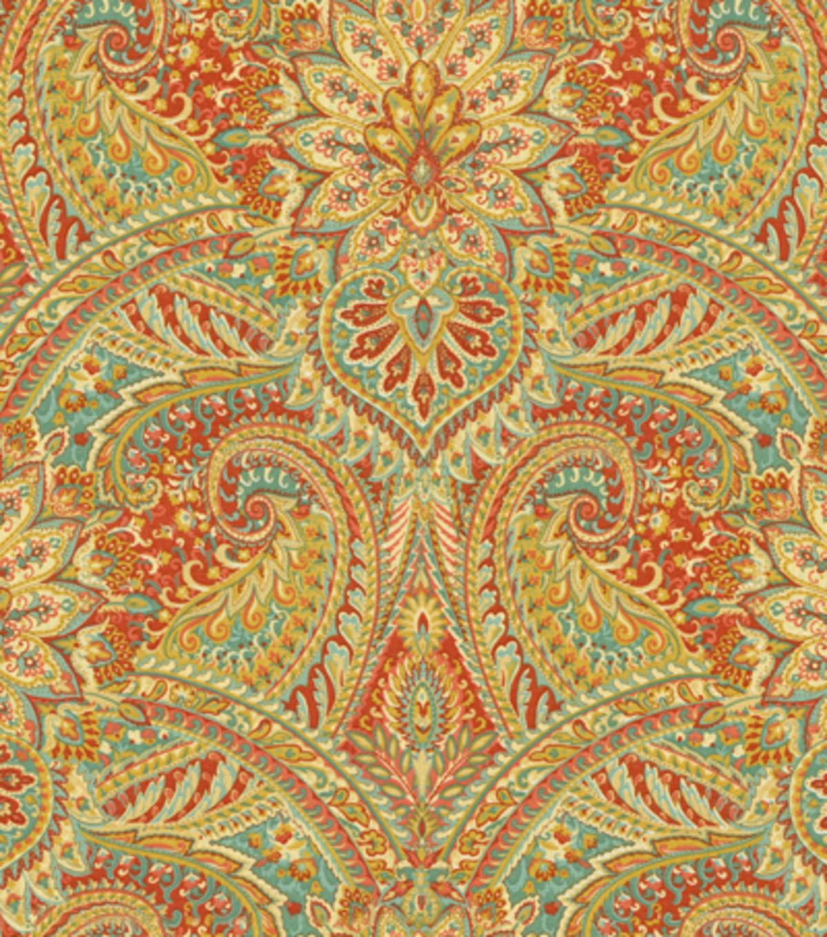 Home Decor Fabric: Home Decor Print Fabric- Waverly Swept Away Berry