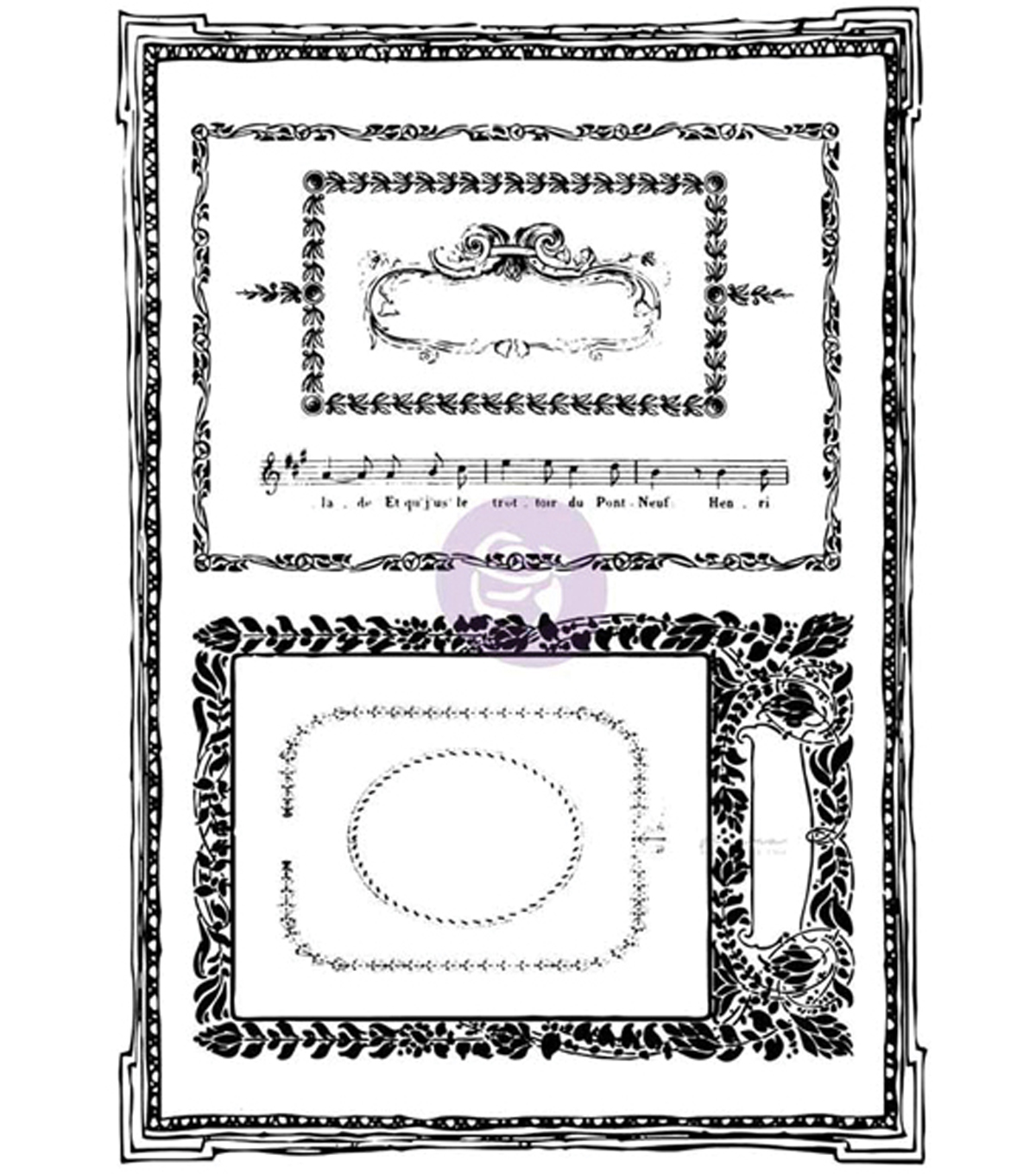 Prima Marketing Iron Orchid Designs 8 pk Cling Stamps-Mini Frames