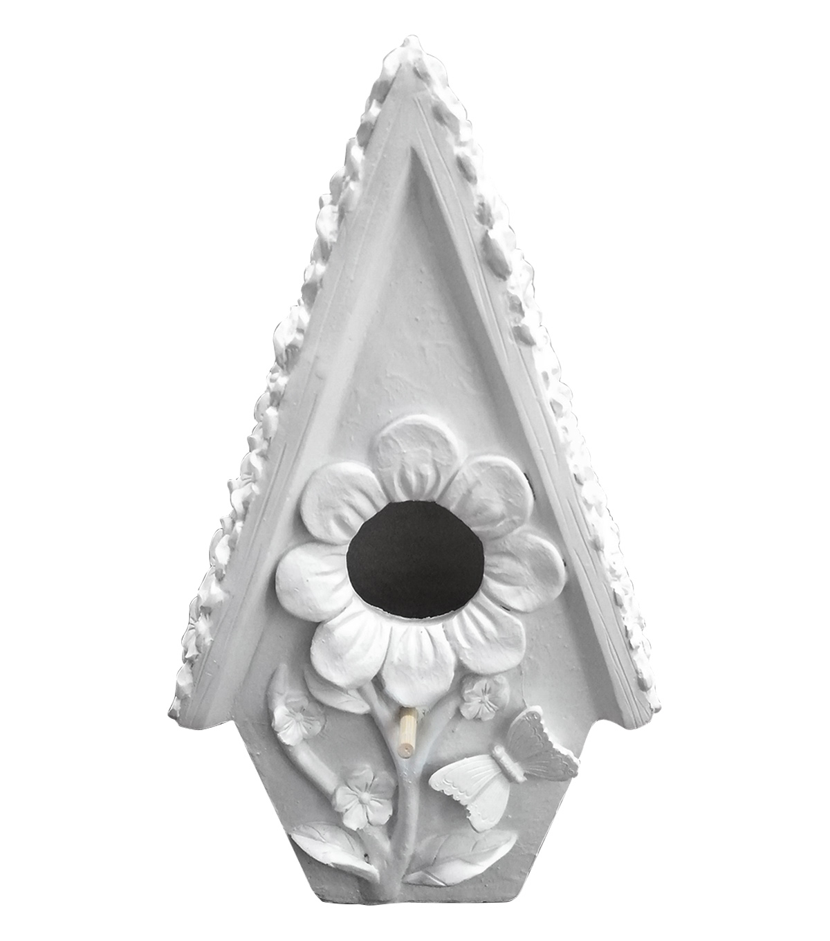 Simply Spring Birdhouse Large Resin-Sunflower House