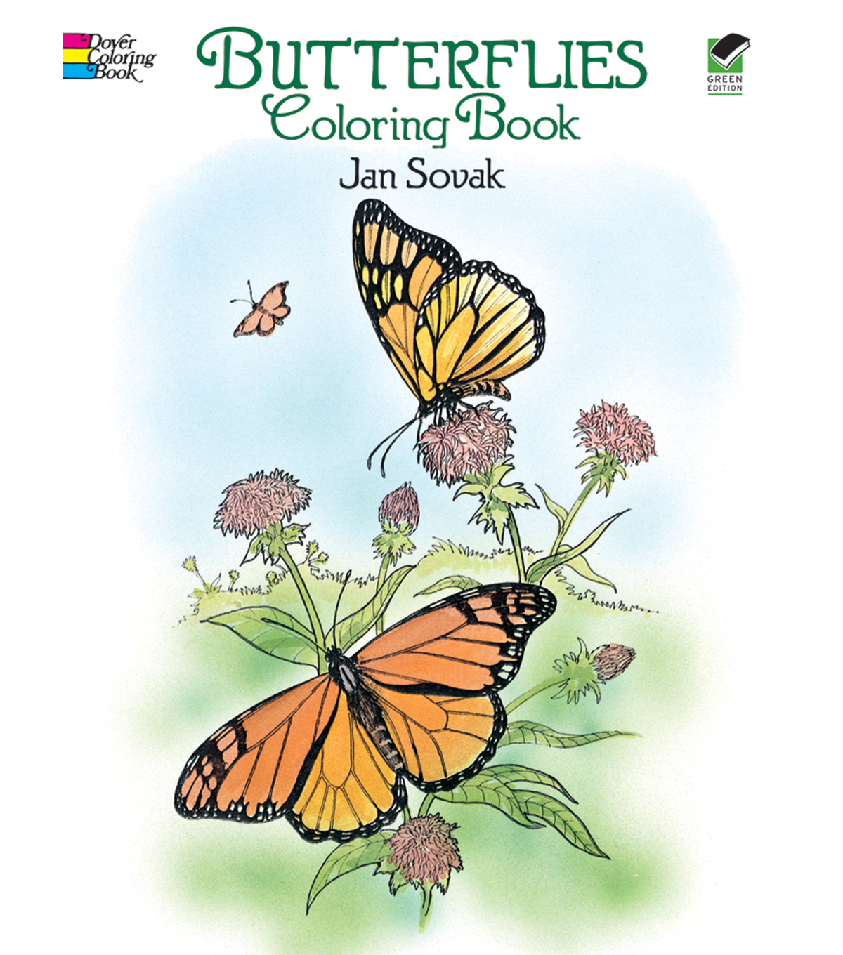 Adult Coloring Book-Dover Publications Butterflies