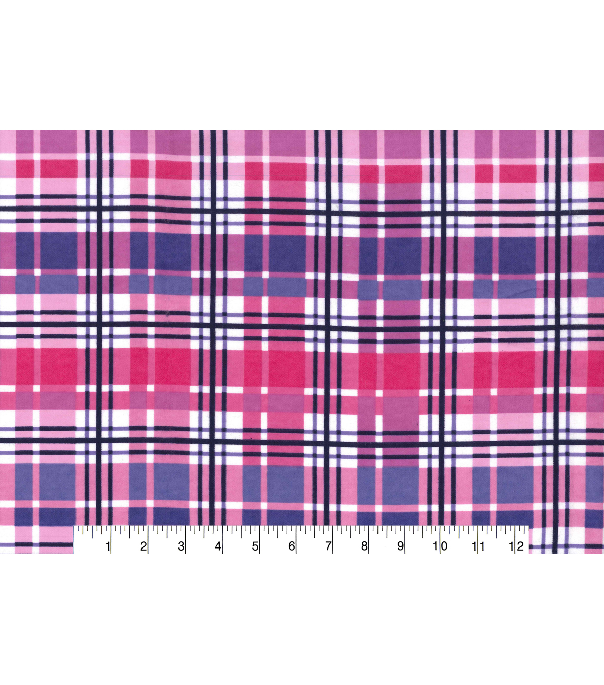 Snuggle Flannel Fabric -Purple & Pink Plaid