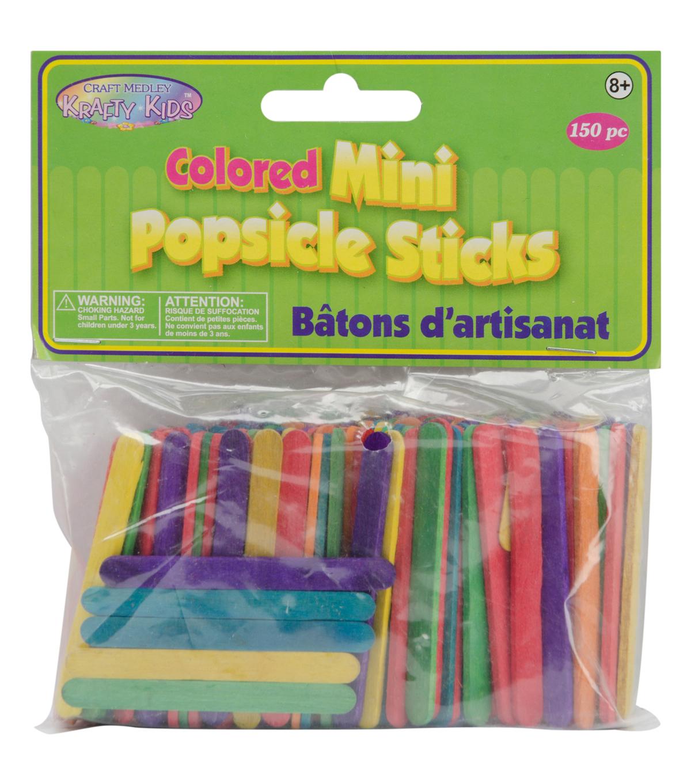 mini colored popsicle sticks 150 per package joann
