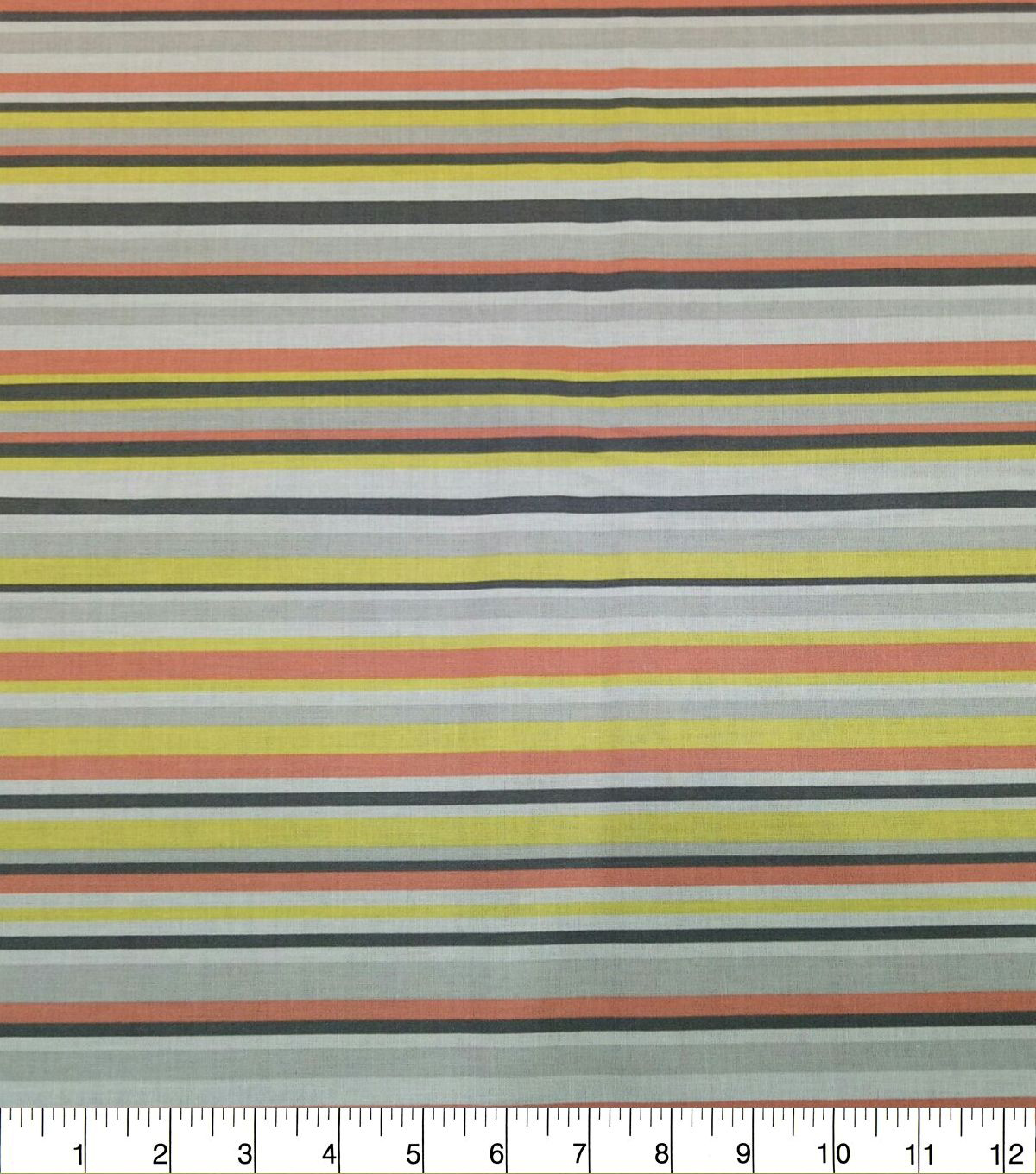 Quilter\u0027s Showcase Cotton Fabric-Stripes Yellow Coral