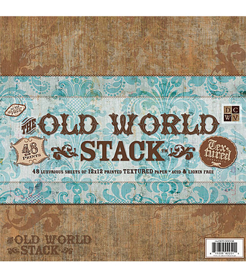 DCWV 12\u0022x12\u0022 Premium Paper Stack - Old World