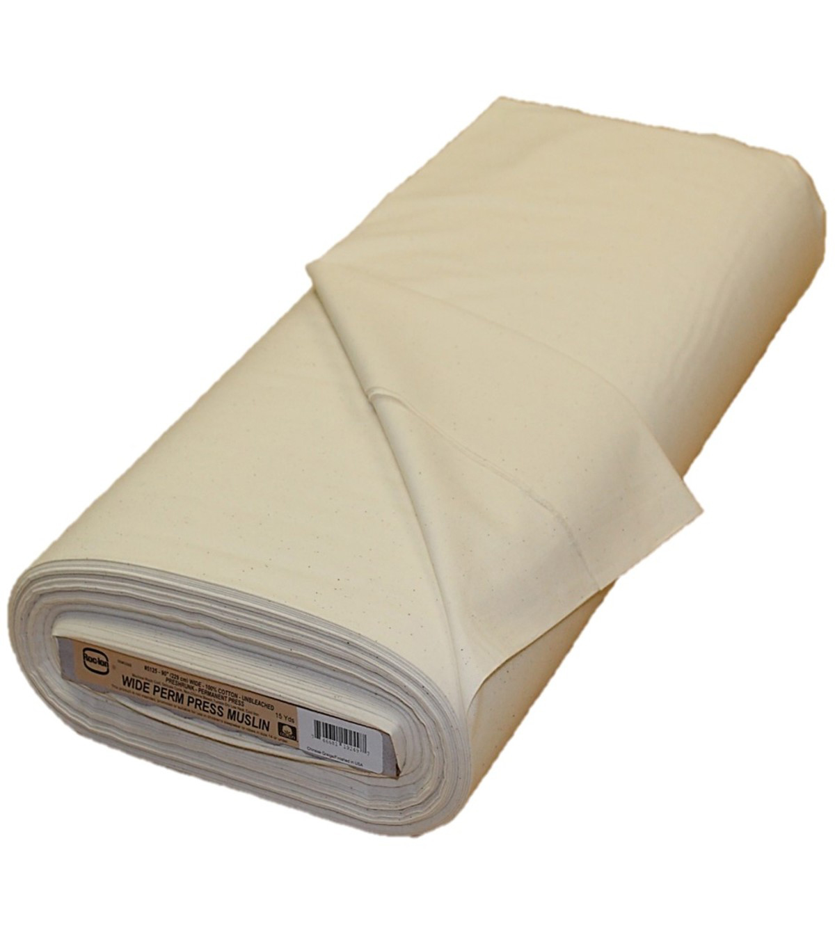 Roc-lon Wide Permanent Press Unbleached Cotton Muslin 90\u0027\u0027x15 yds