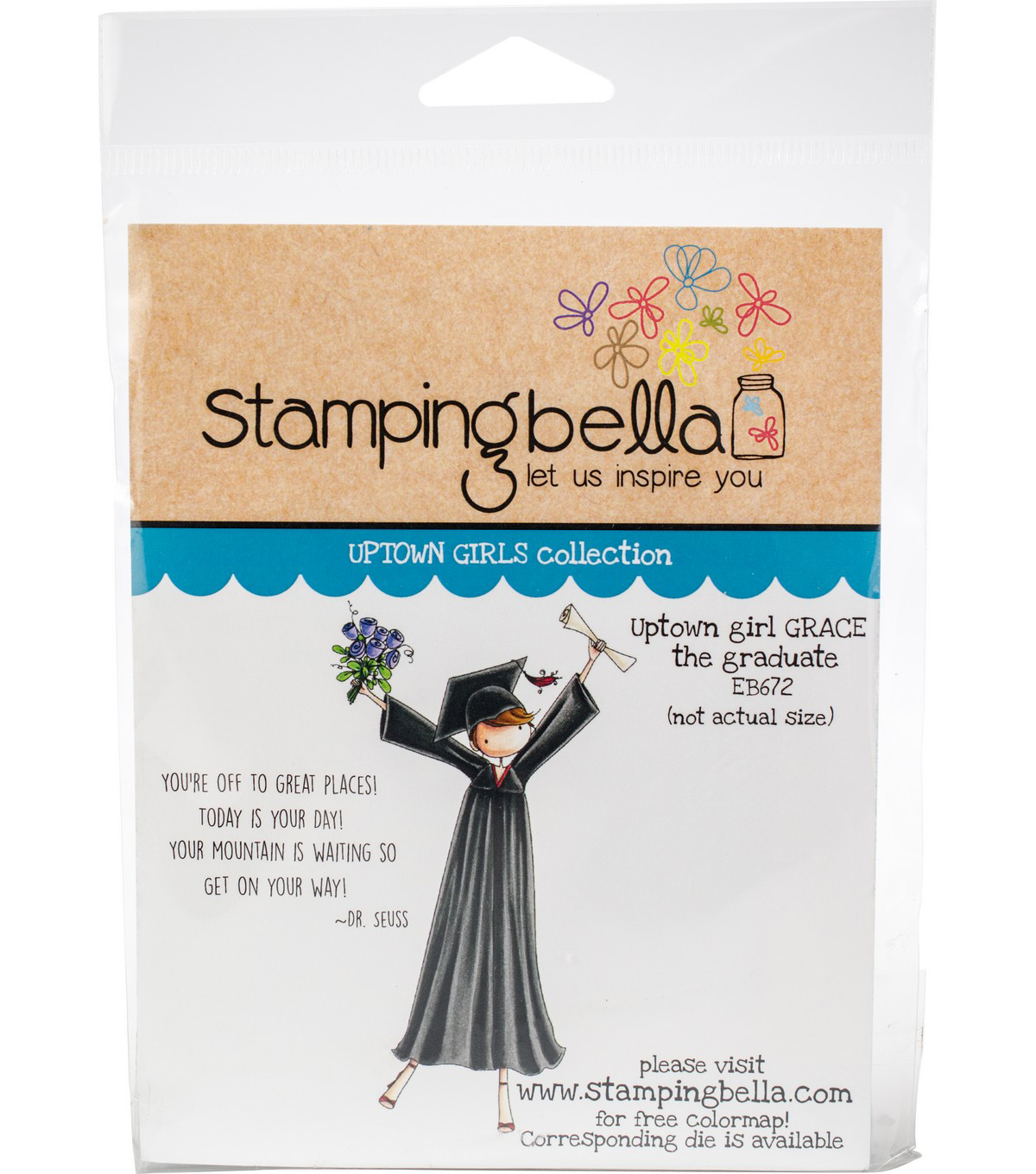 Stamping Bella Cling Stamps-Uptown Girl Grace The Graduate