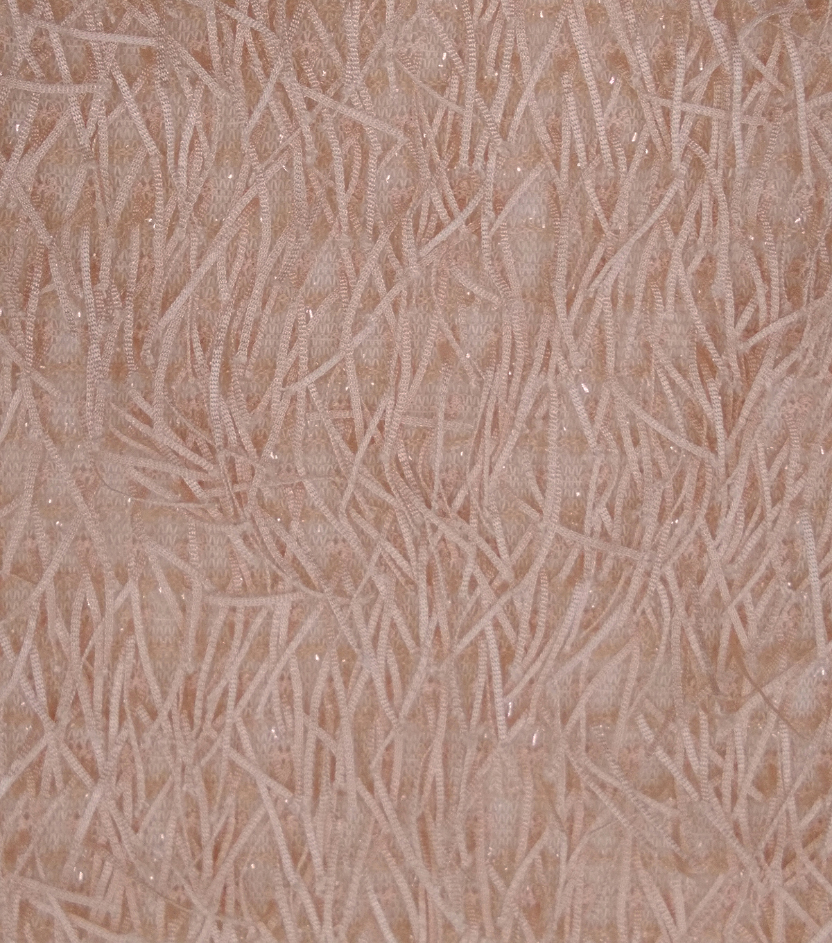 Casa Dahlia All Over Fringe With Shimmer Mesh Fabric-Pink
