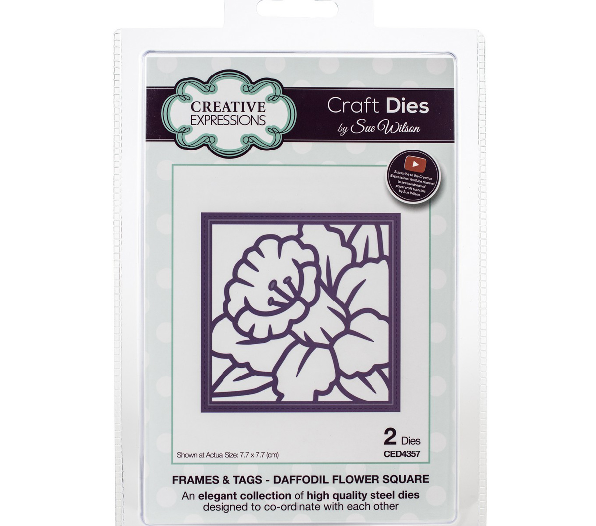 Craft Dies By Sue Wilson-Frames & Tags-Daffodil Flower