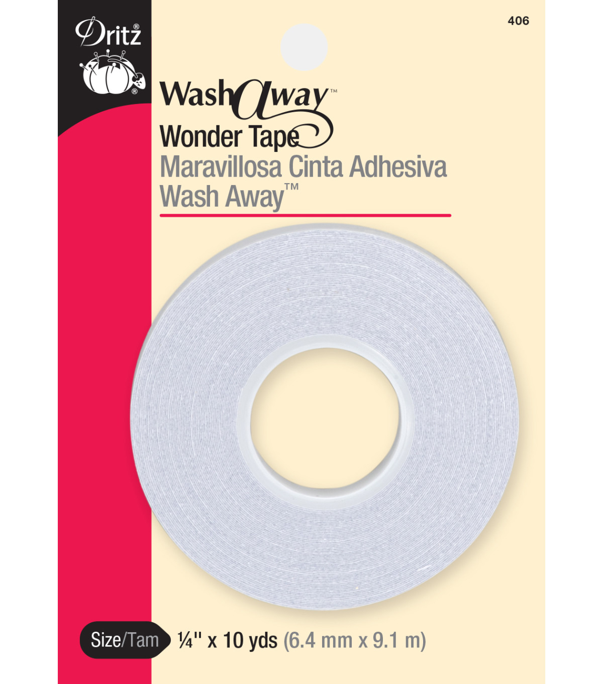 Dritz 0.25\u0022 x 10Yds Wash Away Wonder Tape