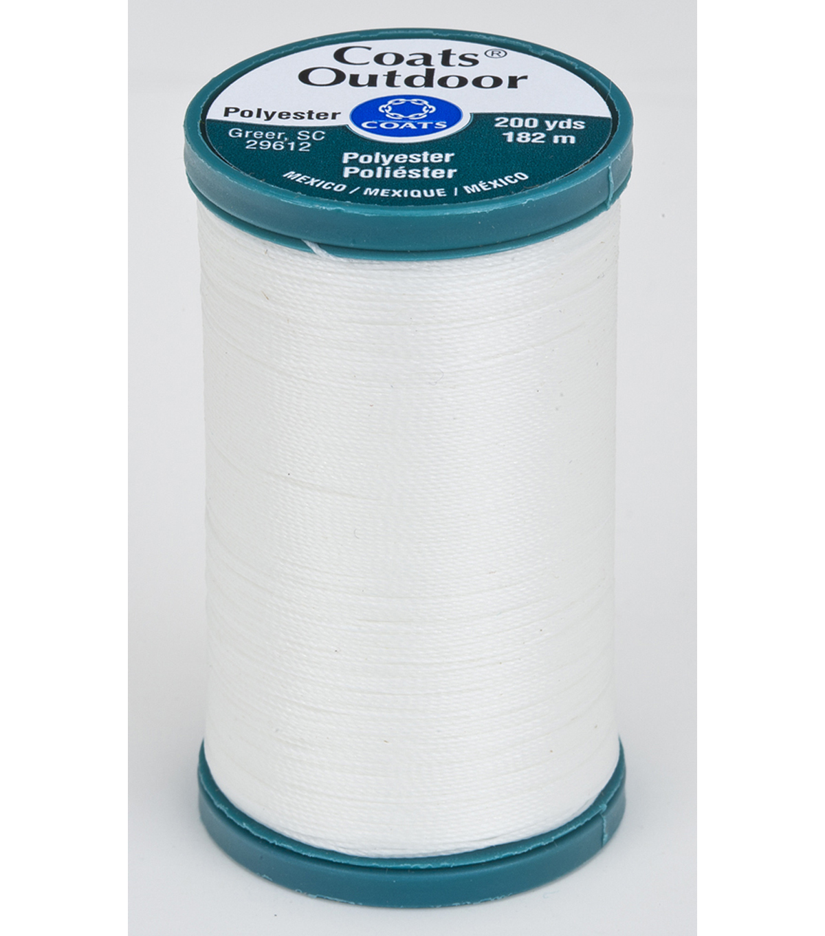 Coats & Clark Outdoor 200yd Thread, Coats Outdoor 200yd White