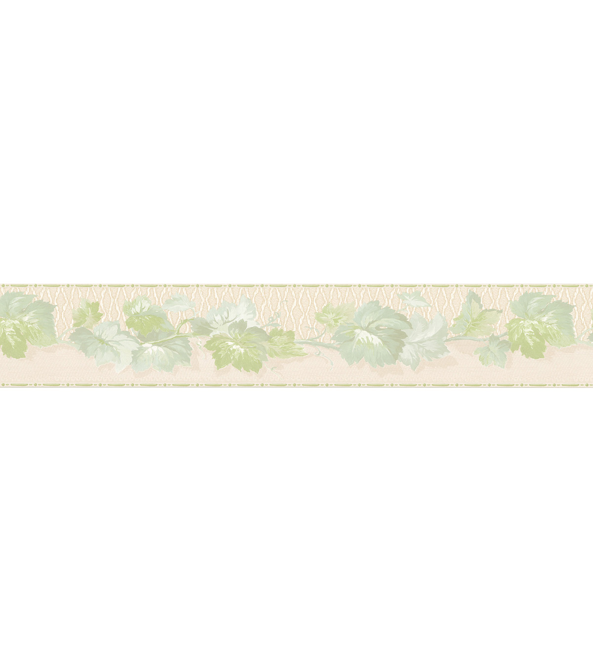 Ivy Trail Wallpaper Border, Green Sample