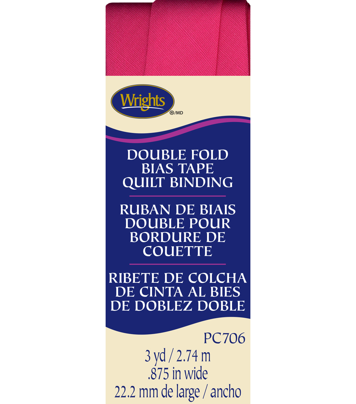 Double Fold Quilt Binding 3 Yd Berry Sor