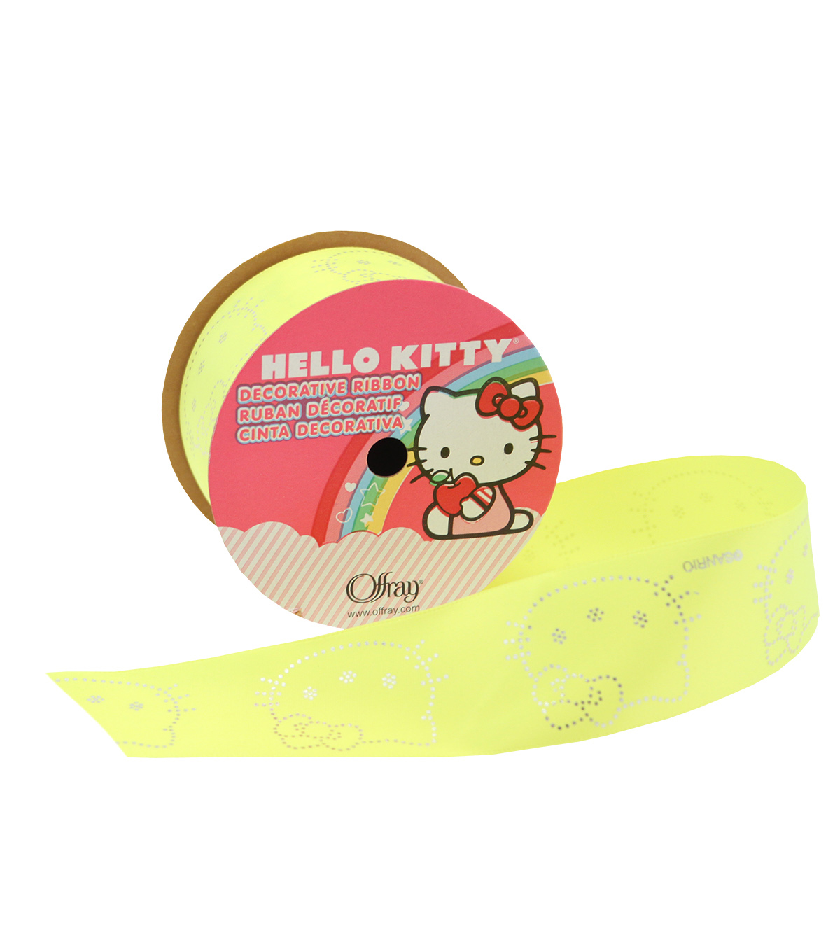 1 And Half In Hello Kitty Neon Yellow Ribbon