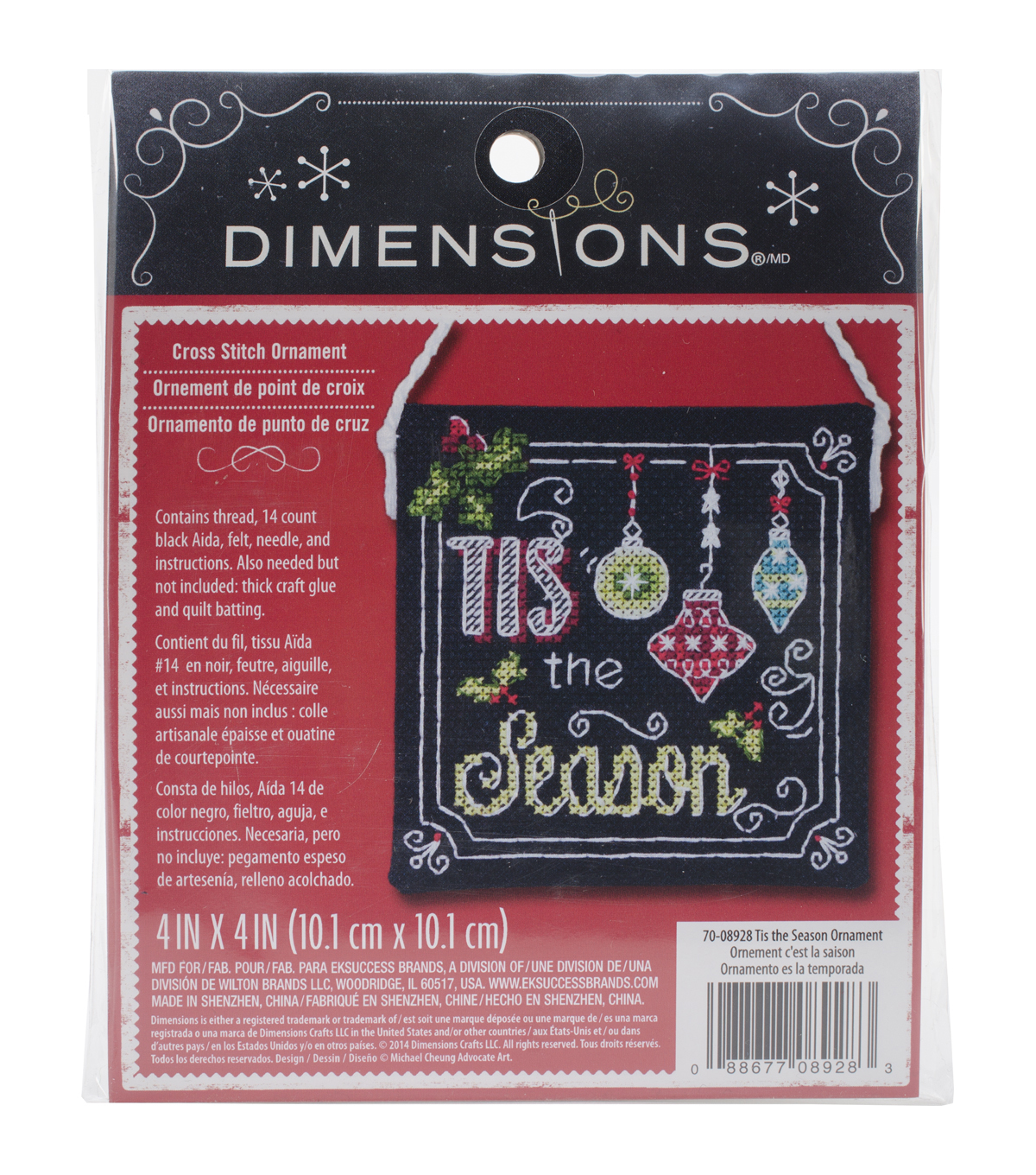 Dimensions Tis The Season Ornament Counted Cross Stitch Kit