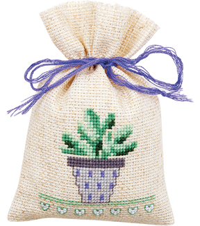 Vervaco Sachet Bags Counted Cross Stitch Kit 3.25\u0027\u0027X4.75\u0027\u0027-Provence