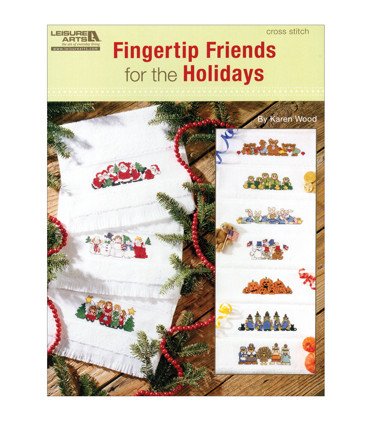 Leisure Arts-Fingertip Friends For The Holidays Book