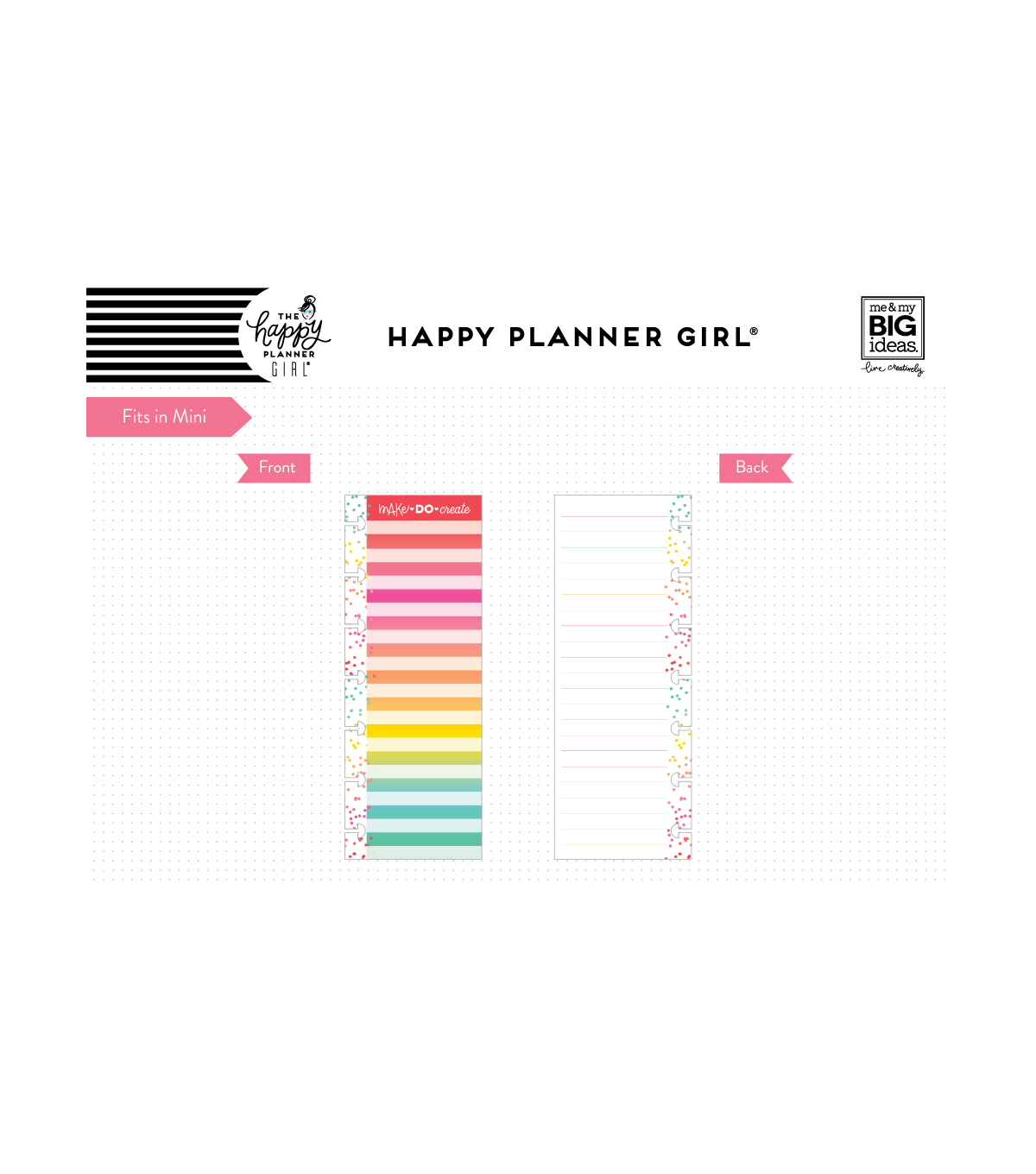 The Happy Planner Girl Half Note Paper-Miss Maker