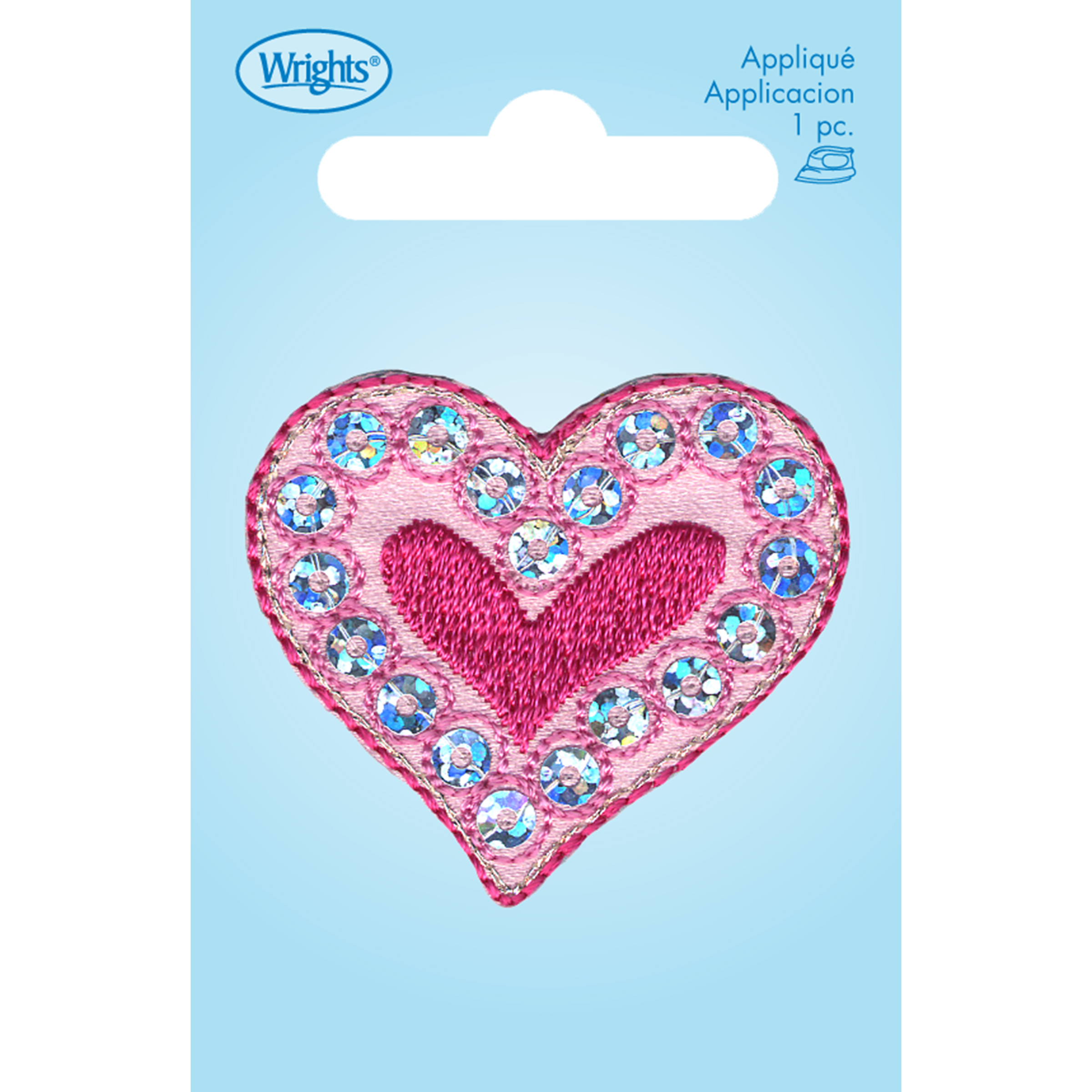 Wrights Iron-On Applique-Heart