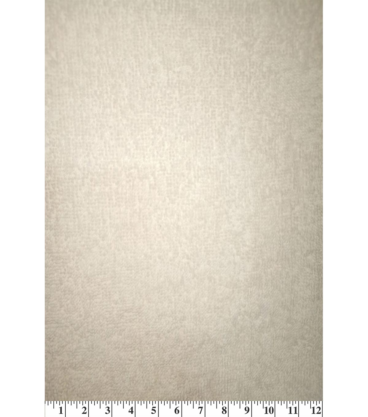 Cotton Terry Cloth Fabric-Solids, Vanilla