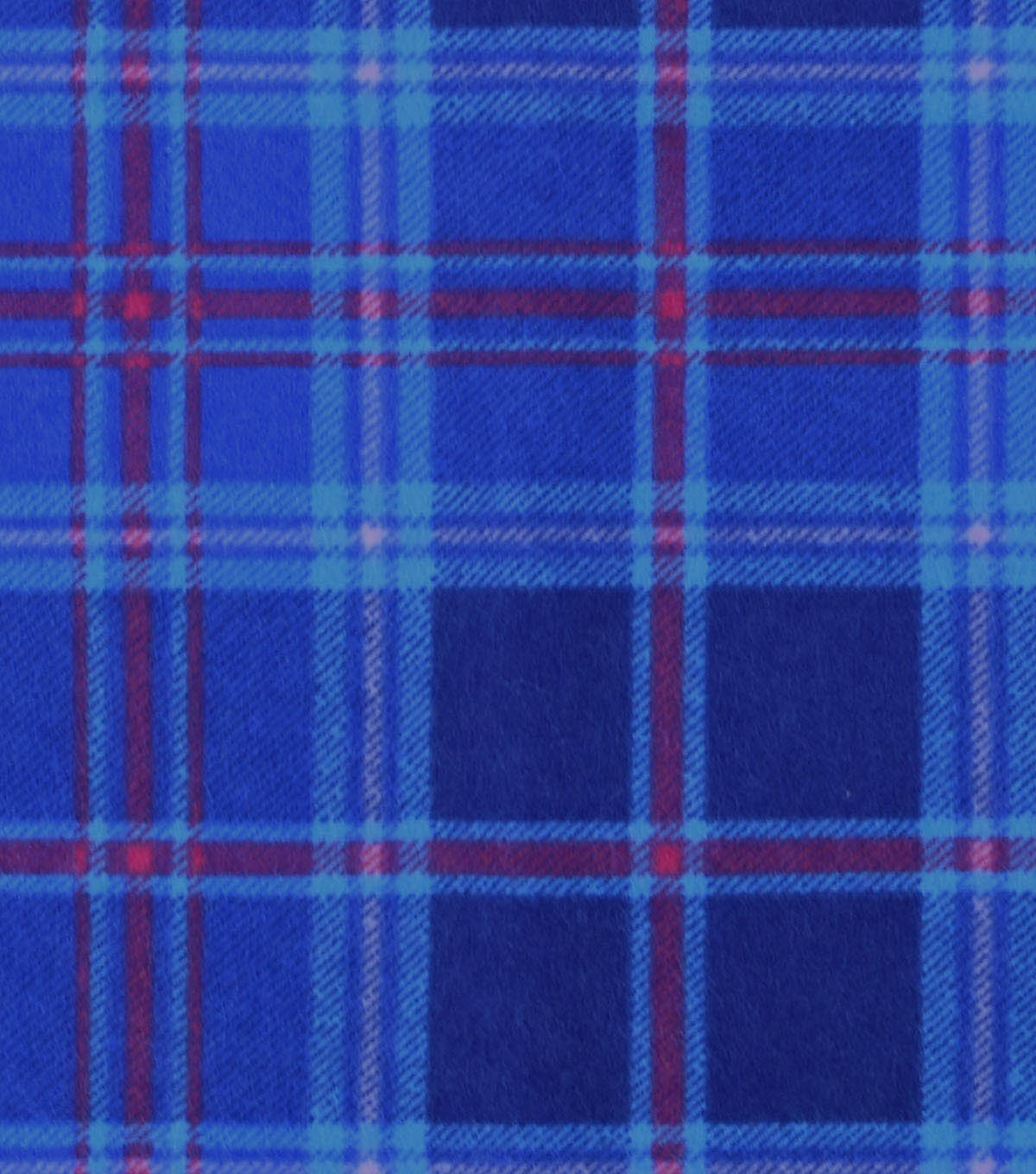 Snuggle Flannel Fabric -Blue Plaid With Brights