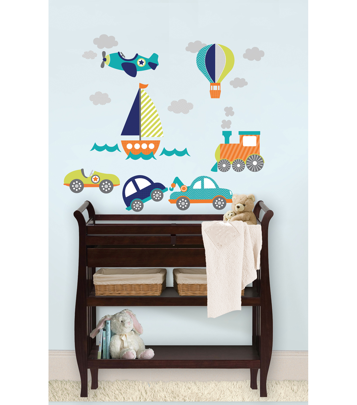 Wall Pops On the Go Small Wall Art Decal Kit, 19 Piece Set