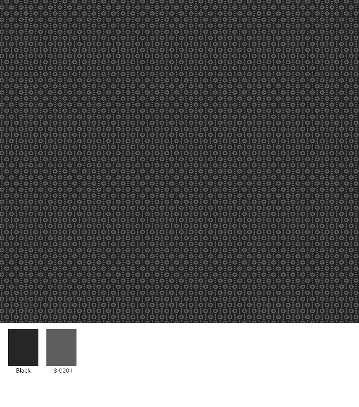 Keepsake Calico Cotton Fabric -Dots On Black