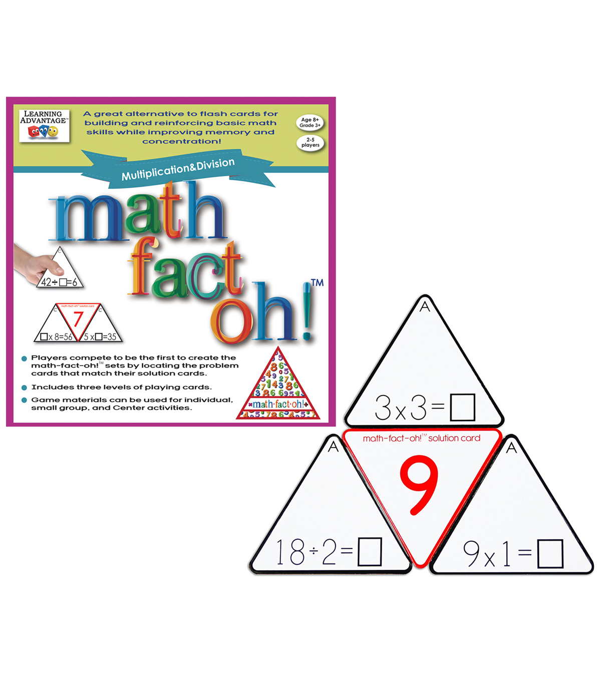 Learning Advantage math-fact-oh! Multiplication & Division Game