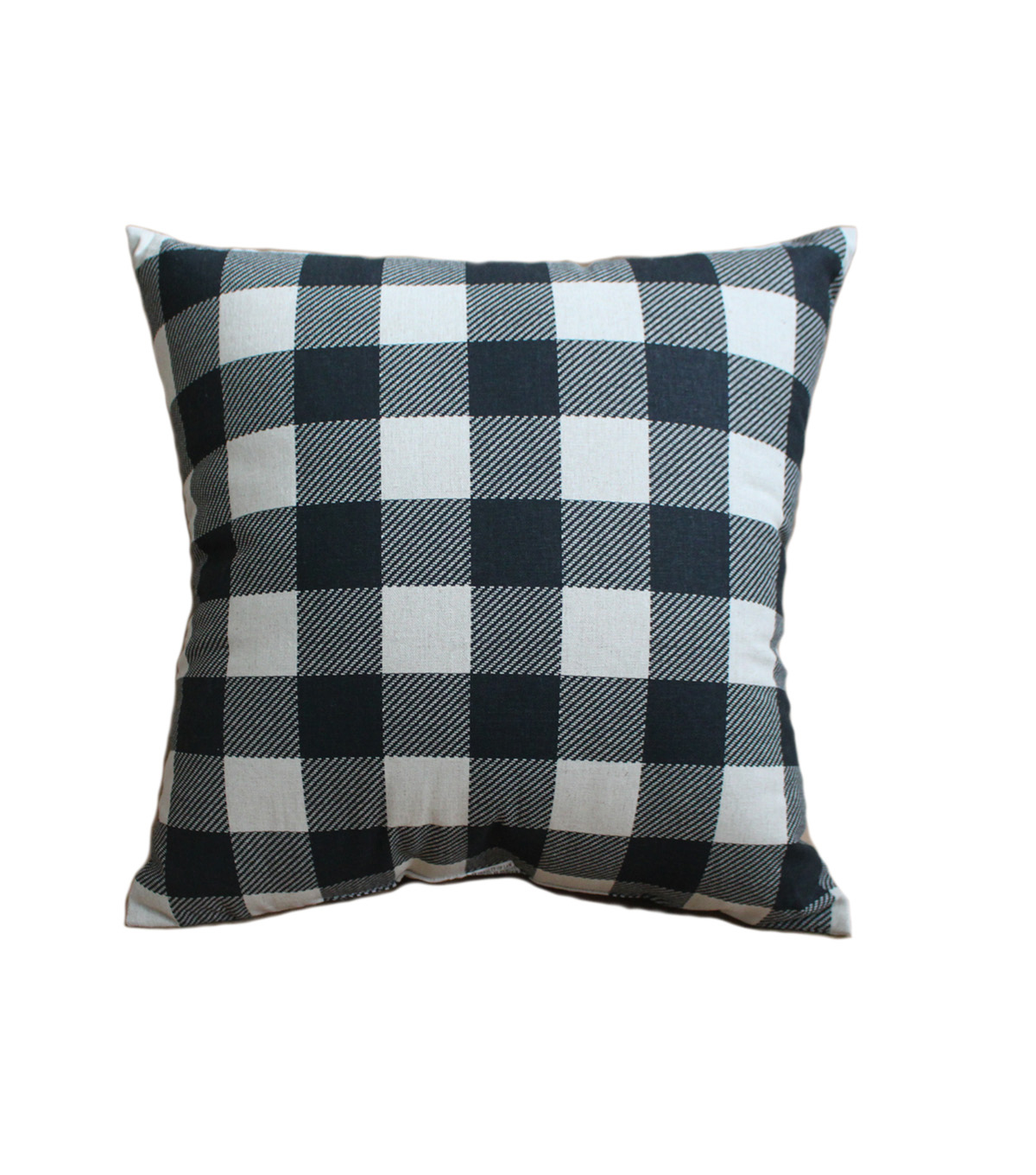 Hudson 43 Farm 18\u0027\u0027x18\u0027\u0027 Pillow-Black Checks