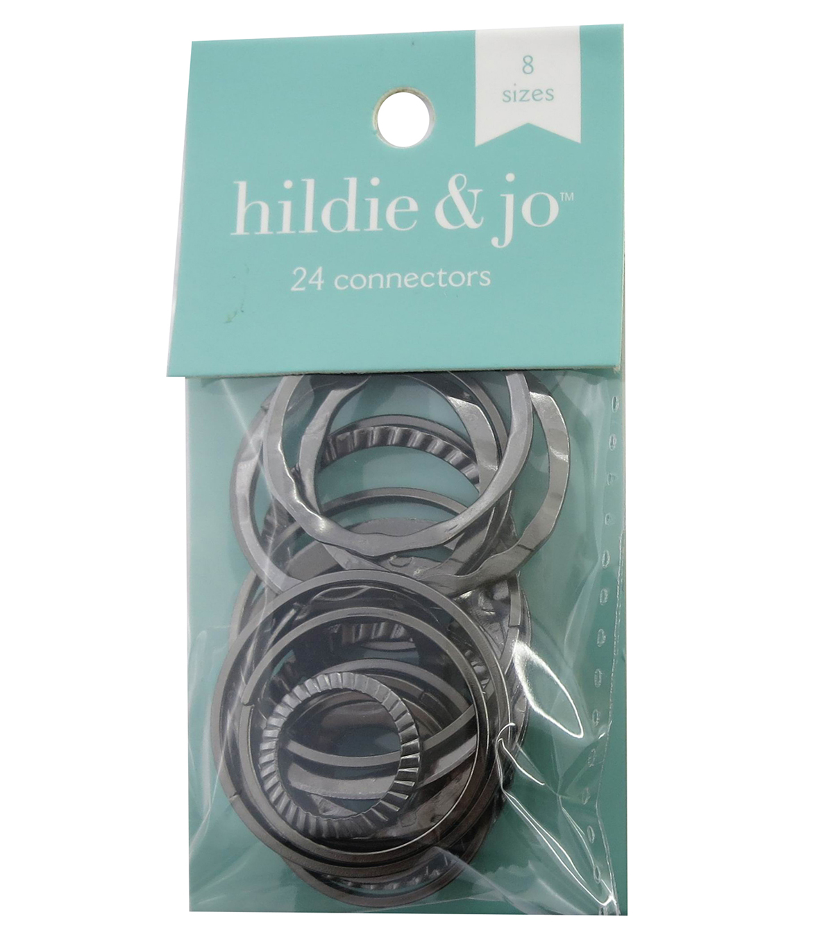 hildie & jo 24 Pack Circle Connectors-Black Nickel