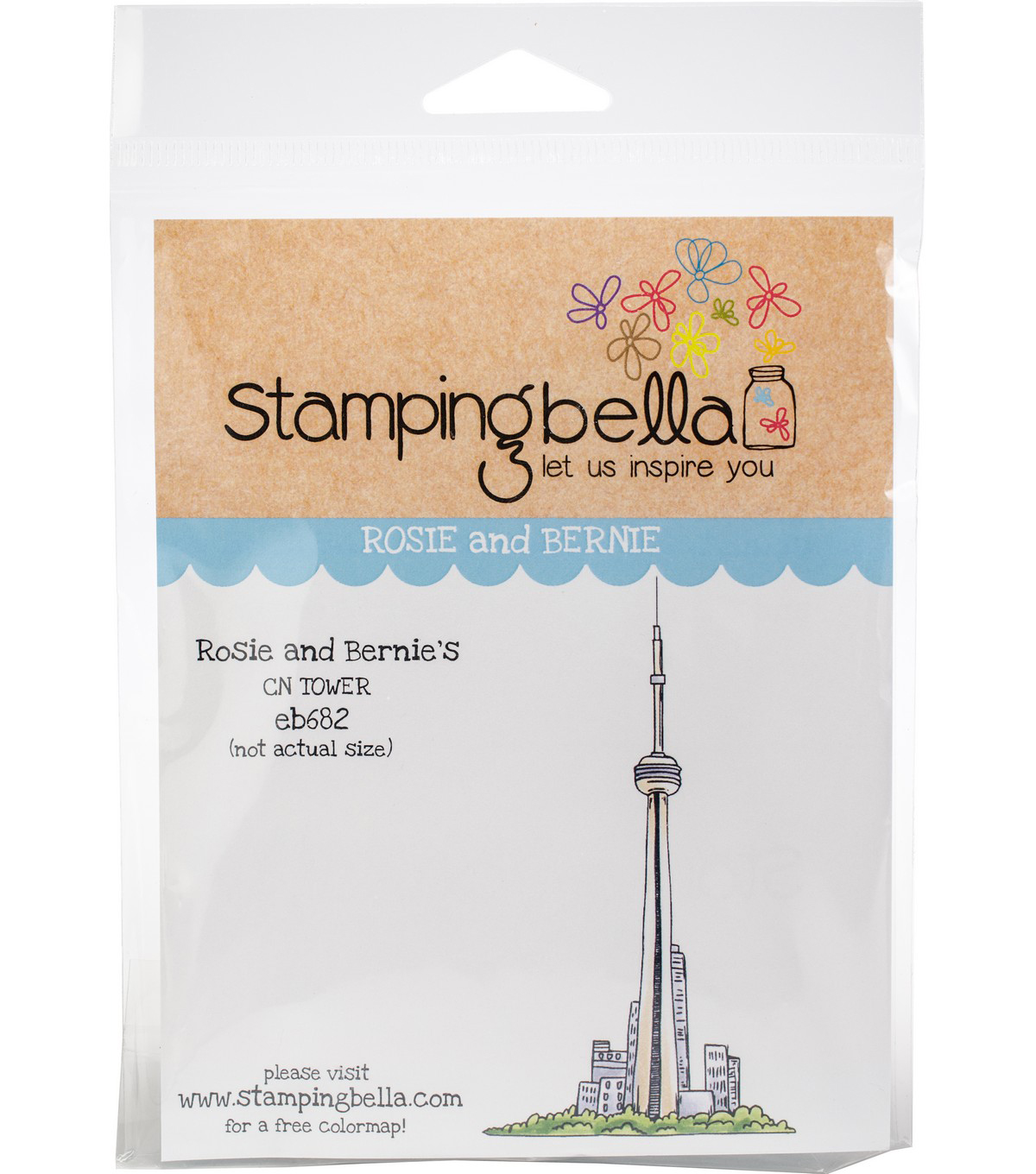 Stamping Bella Cling Stamps-Rosie & Bernie\u0027s CN Tower