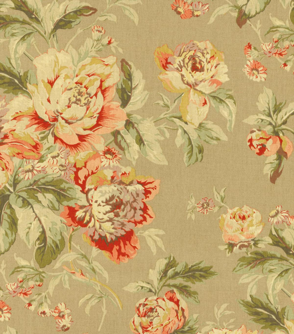 Waverly Upholstery 8x8 Fabric Swatch-Fleuretta/Chutney