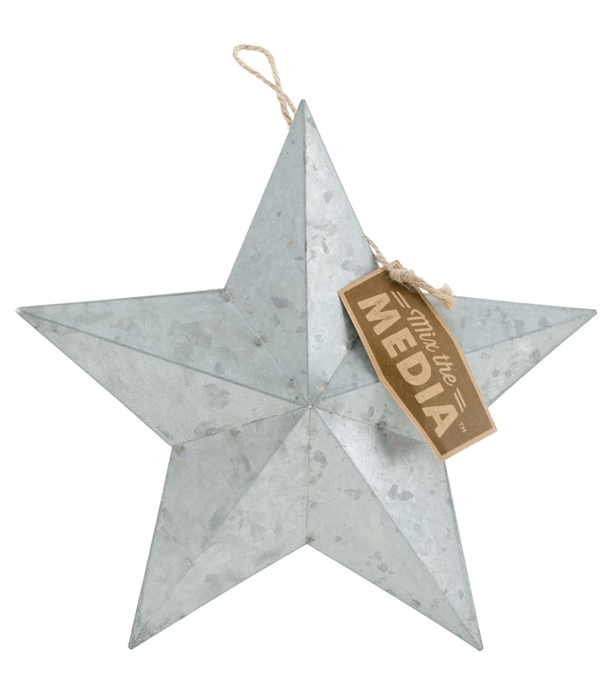 Fab Lab Small Galvanized Metal Star