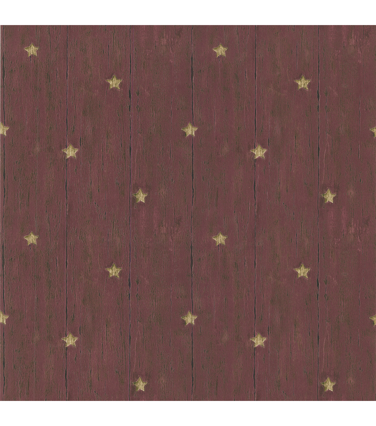 Jefferson Red Wooden Panel With Stars Wallpaper Sample