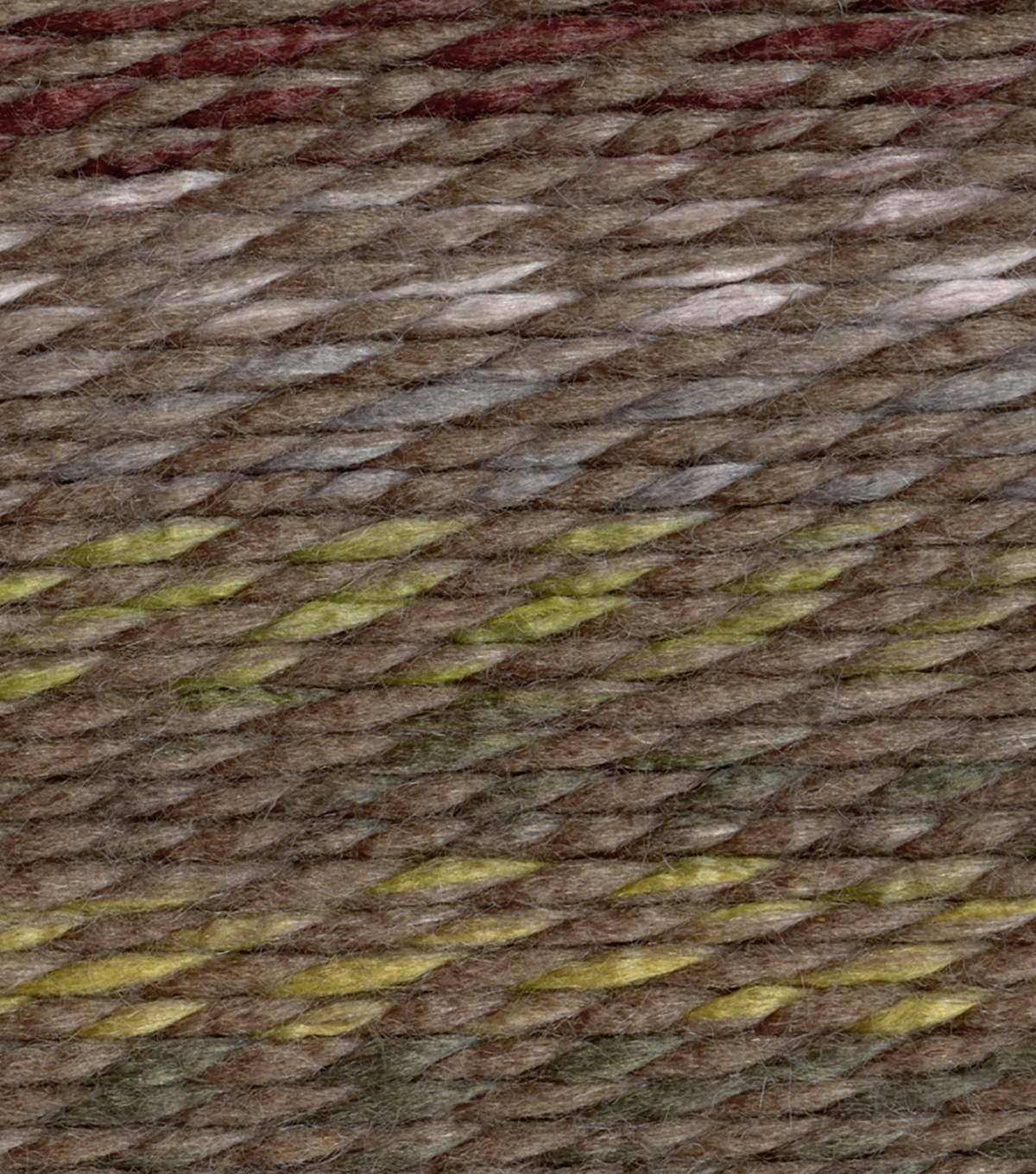 Lion Brand Wool-Ease Thick And Quick Yarn, Camo Stripes