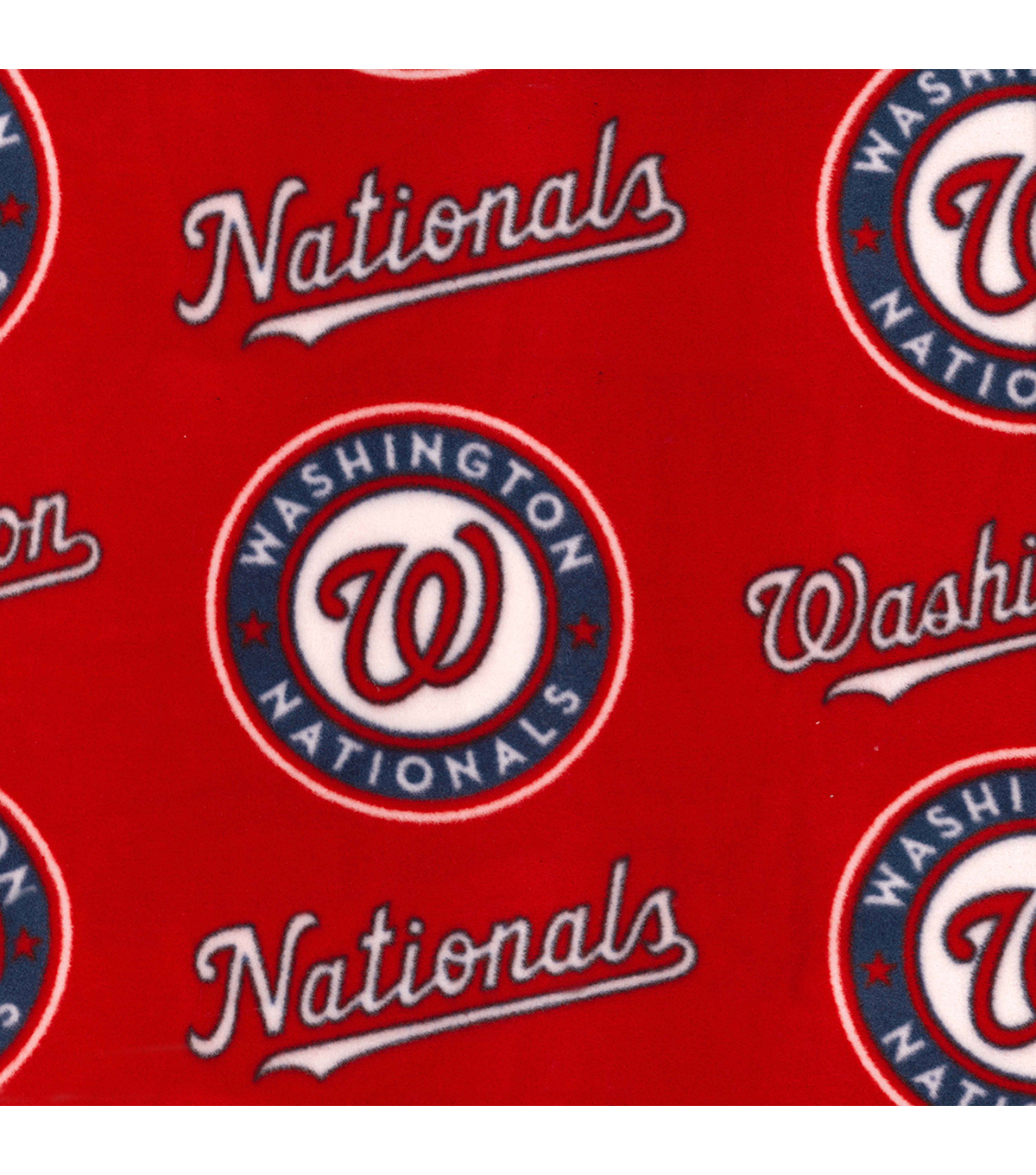 Washington Nationals Fleece Fabric 58\u0022-Logo