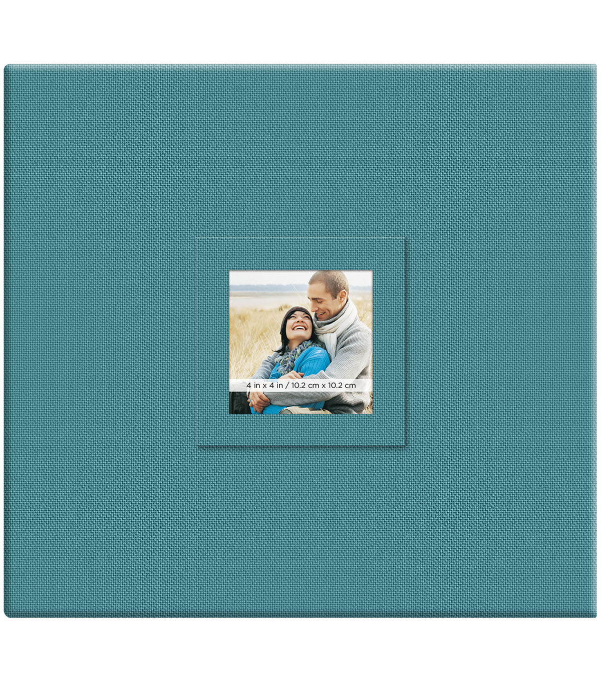 MBI Earthtone 12\u0027\u0027x12\u0027\u0027 Post Bound Scrapbook Album with Window-Blueberry