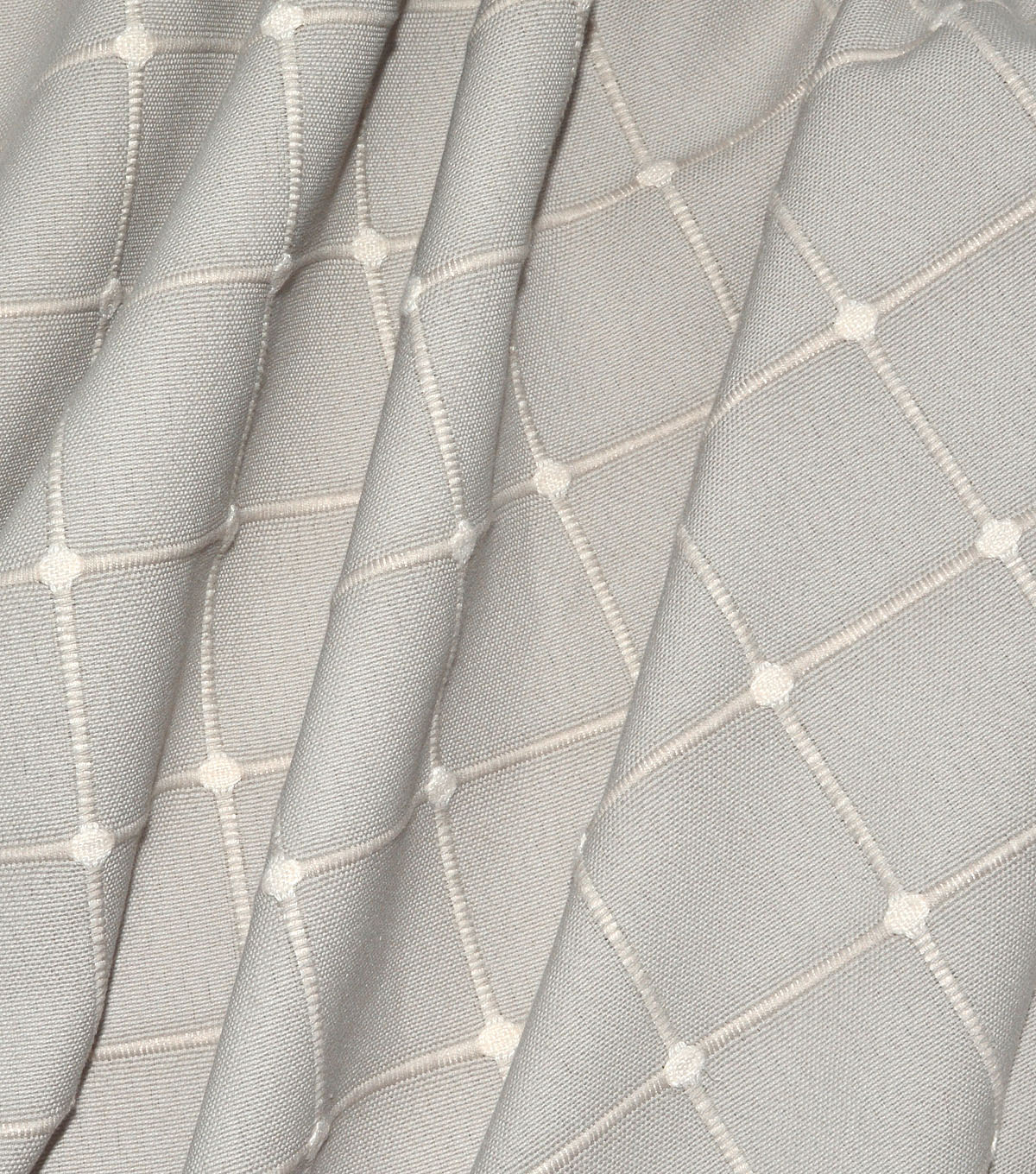 Waverly Upholstery Fabric 13x13\u0022 Swatch-Geo Metrics Steam