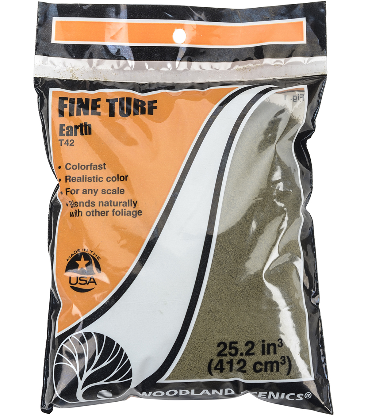 Woodland Scenics Fine Turf 18 To 25.2 Cubic Inches, Earth - Fine