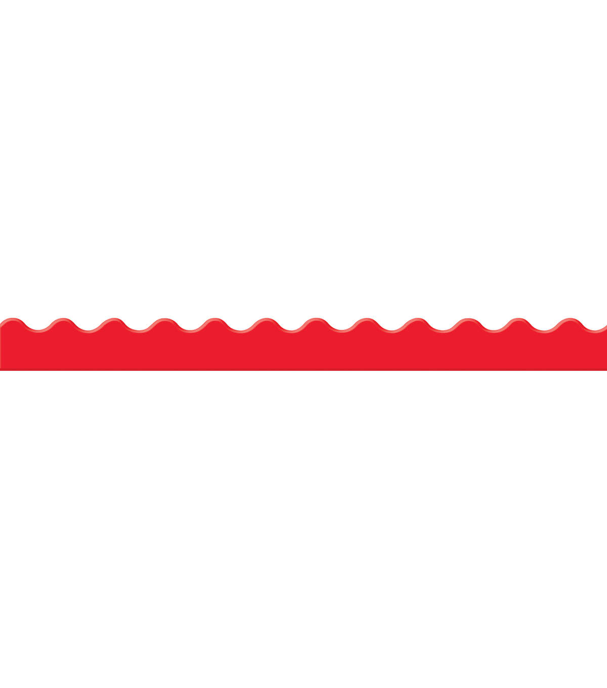 Eureka School Extra Wide Deco Trim-Color My World Solid Red