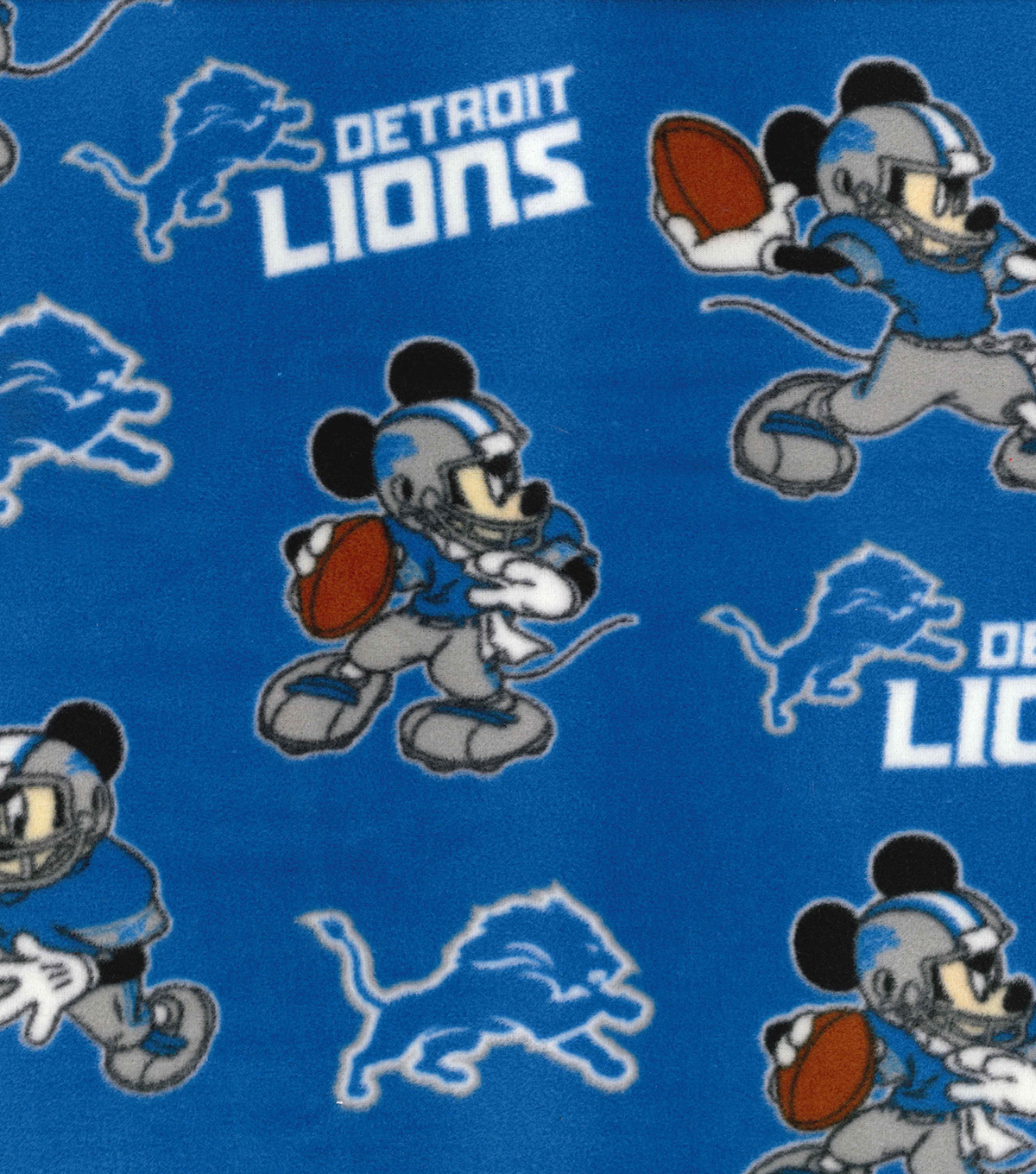 Detroit Lions Fleece Fabric-Mickey