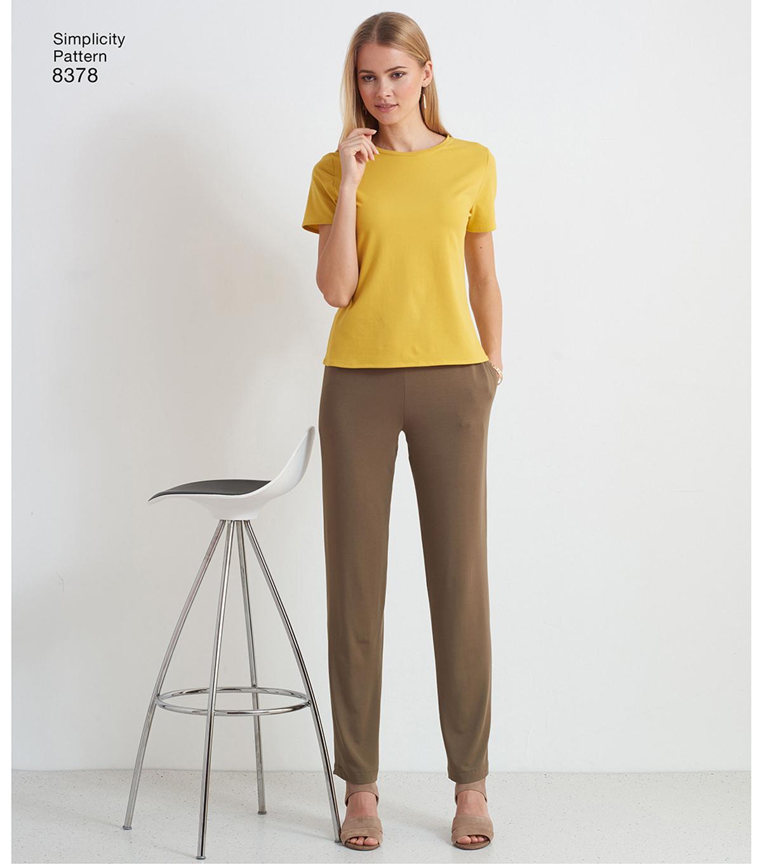 b879d575a9 Simplicity Pattern 8378 Misses  Knit Pants-Size A (XXS-XS-S-M-L-XL ...