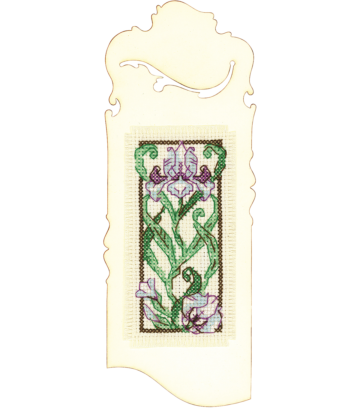 RIOLIS 2.25\u0027\u0027x6.25\u0027\u0027 Counted Cross Stitch Kit-Bookmark Blooming Iris