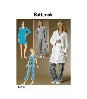 Butterick Pattern B6428 Misses\u0027 Tops & Gown & Pull-On Pants-Size 4-14