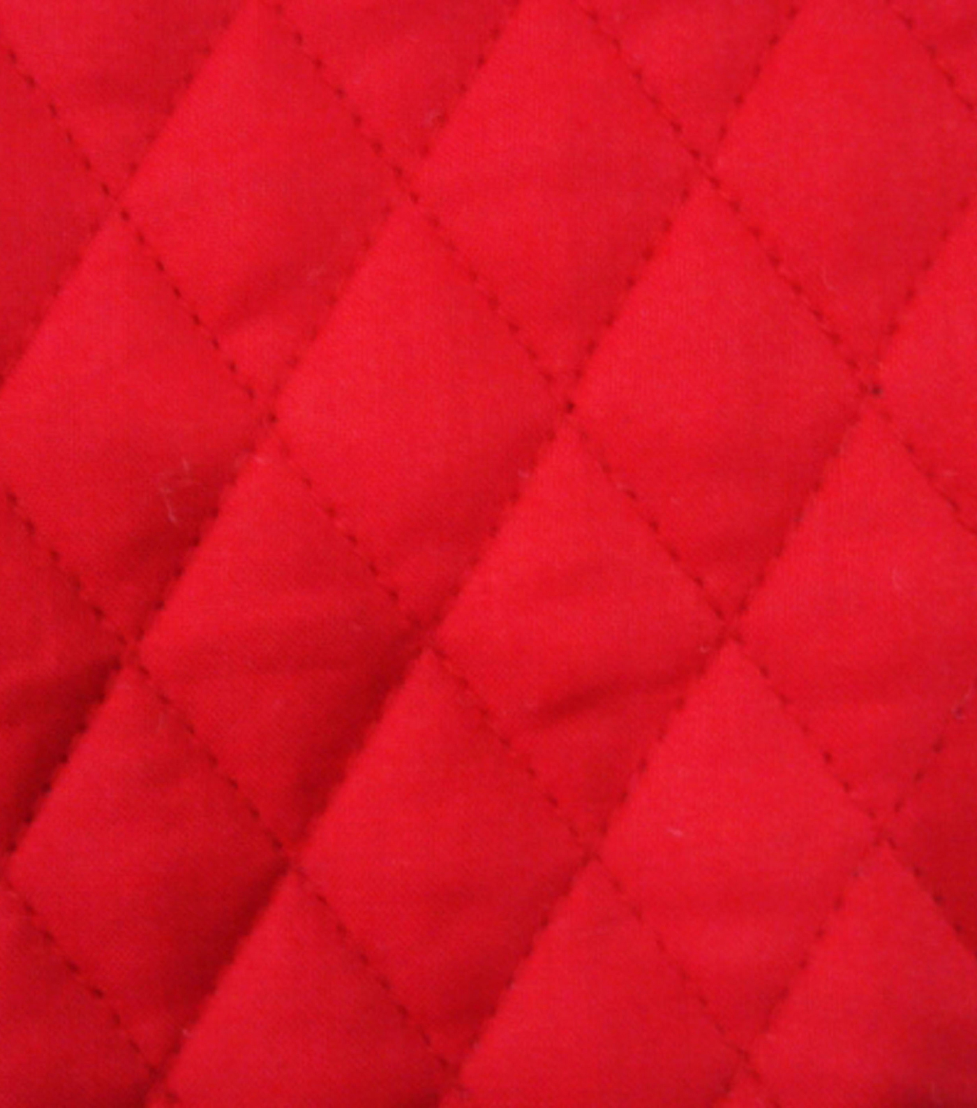 Double Faced Pre-Quilted Cotton Fabric -Diamond Solids, Red